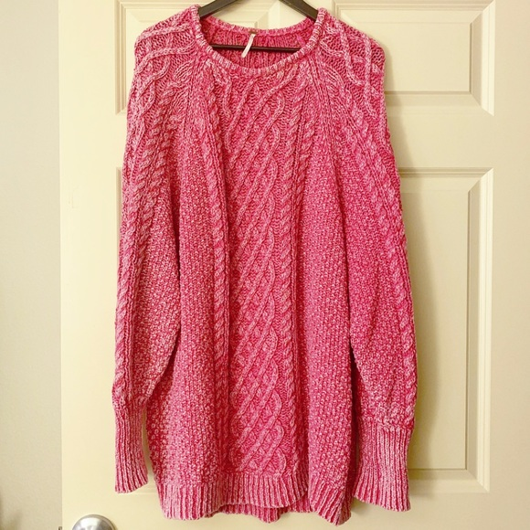 "047e915f255 Free People Dresses   Skirts - Pink Free People ""On a Boat"" Sweater Dress"